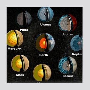 Planets' internal structures Tile Coaster